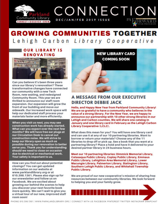 Winter 2019 Connection Newsletter